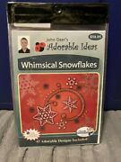 New Sealed John Deer's Adorable Ideas Embroidery Cd Whimsical Snowflakes
