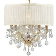 Crystorama Lighting 4415-gd-saw-clq Brentwood - Six Light Mini Chandelier In