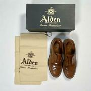 Alden Whiskey Cordovan Long Wing Menand039s Shoes Size 6.5e Model 97891 Round Used