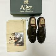 Alden Cigar Cordovan Long Wing Menand039s Leather Shoes Size 8.5d Model 97896 Used