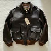 Rrl Calfskin Leather Flight Jacket Type A-2 Menand039s Size Xs Color Brown Unused