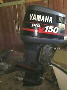 Used 1994 Yamaha 150hp 2-stroke Outboard Boat Motor Parts Only