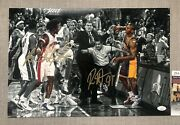 Ben Wallace And Ron Artest Dual Autographed 12x18 Malice At The Palace Photo