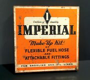 Vintage 1943-63 Imperial Gas And Oil Line Advertising Sign Box Can Store Display