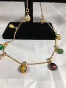 Joan Rivers Russian  Style Egg Necklace 9 Eggs 22 Inches With Extenders