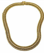14k Gold Chain Mesh Necklace 17 21g Wearable Dent In Small Area On Side