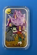 Cmg Mint Halloween Witchandrsquos Spell Enameled 1 Oz Silver Art Bar 51/60