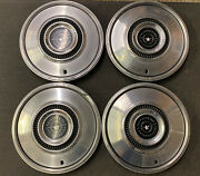4 Oem Factory 1972 To 1976 Ford Thunderbird 15 Inch Hubcaps Wheel Covers Rare