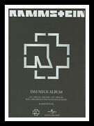Framed And Mounted Rammstein Music Band Original Promo Album Poster Print A4