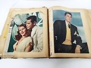 Vintage Scrapbook 1940and039s Pinup Photos Clippings Actors Hollywood Stars 14 X 12