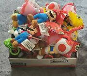 Nintendo Super Mario And Friends Plush Clip Keychain New With Tag - Lot Of 23