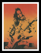 Framed And Mounted Rory Gallagher Music Singer Original Promo Poster Print A4