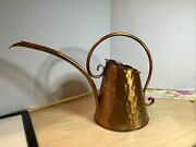 Vintage Gregorian Solid Copper Watering Can Pitcher Hand Hammered