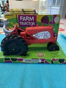 Nos 1950-60's Auburn Rubber Safe Play Toys Tractor No. 572 Unbreakable