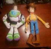 Vintage Disney Toy Story Large Woody Doll 32 And Large Buzz Lightyear 26