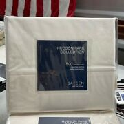 Hudson Park Collection 500 Thread Count Sateen Wrinkle-resistant Twin Flat Sheet