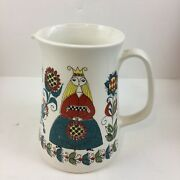 Vtg 1960andrsquos Saga Norsk Figgjo Flint Turi Gramstad Pitcher 1075 Excellent See Pic