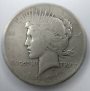 1921 Peace Silver Dollar 1 Very Fine Vf Problem Free Key Date High Relief