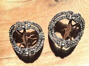 Supremely Rare Genuine Rev War Founders' Pair Britches Paste Inlaid Buckles