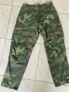 Us Vietnam Era Lowland Erdl Camouflage Rip Stop Trousers Pants Small Altered