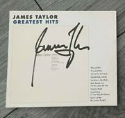 James Taylor - Greatest Hits - Signed Cd Lp - Genuine Uacc Rd