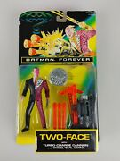 Batman Forever Two-face W/ Firing Cannon And Coin Vintage Kenner 1995 90's New