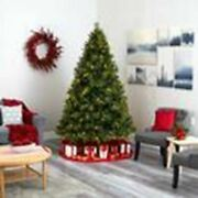 Multicolor North Carolina Mixed Pine Artificial Christmas Tree With 470 Warm Whi