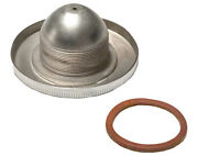 Chrome Gas And Oil Tank Cap With Leather Gasket For 1935 - 1936 Vl 45 Servi-car