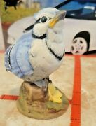 Young Bluebird Figurine By Andrea Sadek 6350 Blue Jay 3.75 Inches Tall