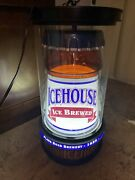 Rare Vintage 1996 Ice House Beer Motion Rotating Light Sign 12x24 Works 406a