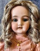 """Antique 29"""" German Bisque Cm Bergman Doll W/nice Wig And Great Outfit"""
