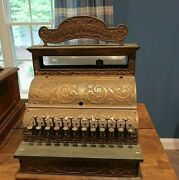 Early 1900s Michigan Cash Register Ornate On All Sides And Works