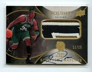 2007-08 Ud Exquisite Scripted Swatches Patch Auto On Card Paul Pierce /15 Sick