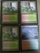 Wooded Foothills Onslaught X4 Playset Mtg Magic Land Rare Mountain Forest Cards