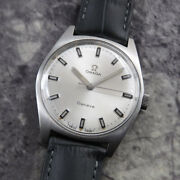 Omega Geneve Vintage Overhaul Rare Manual Winding Mens Watch Authentic Working