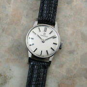 Omega Vintage Overhaul Rare Pt Manual Winding Womens Watch Authentic Working