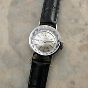 Omega Vintage Overhaul Platinum Manual Winding Womens Watch Authentic Working
