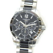 Longines Watch Conquest Automatic Round L2.744.4.56.7 Black Table 53785