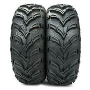 2 Of 25x8-12 Front 6pr Rubber Atv/utv Tires Tubeless For Yamaha Grizzly 700