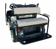 2 In 1 Rear Combo Seat- Tan For Star Golf Carts 2008-2016