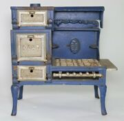 Antique Cast Iron Kent Toy Cook Stove Oven Range 3 Ovens 4 Burners