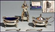 Mappin Webb Machyn Web Made Of Sterling Silver 3-piece Set Metal Crafts Western