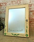 Salvaged Mirror Front Only Wood Medicine Cabinet Vanity Cupboard Farmhouse
