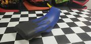 Honda Atc110 Atc 110 Seat Cover Fits For Year 1983 To 1985 Seat Cover Blue Flame