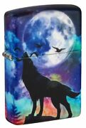 Zippo Wolf Howling Design 540 Color Windproof Lighter 49683