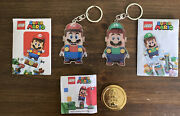 Lego Super Mario And Luigi Keychain Set Of 2 And Mario Limited Edition Gold Coin