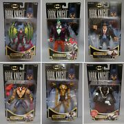 1996 And 1997 Kenner Legends Of The Dark Knight Action Figures Moc Lot Of 6