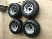4 -gray Used Golf Cart Tires And Rims 18x8.5-8 Ezgo Club Car Yamaha A Condition