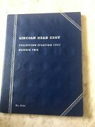 Lincoln Head Cent Collection Starting 1941-1961 Number Two Whitman Book 57 Coins