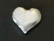 1 Oz Cce .999 Silver Beating Heart Bullion Hand Poured Crystal Coast Exchange